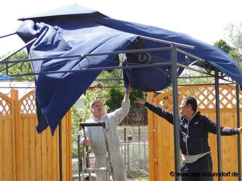 pavillon aufbauen gartentagebuch mai 2012