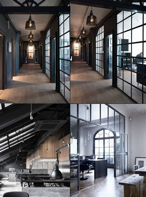 modern industrial office start paying attention to the design of the office industrial environment and dark interiors