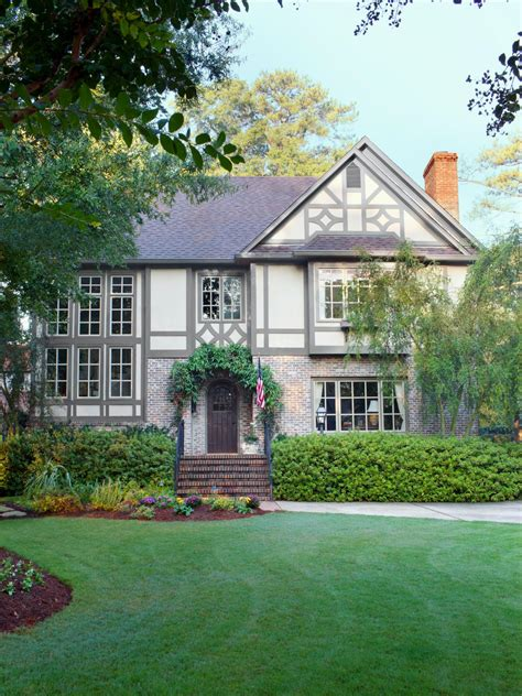 stealable curb appeal ideas from tudor revivals landscaping ideas and hardscape design hgtv