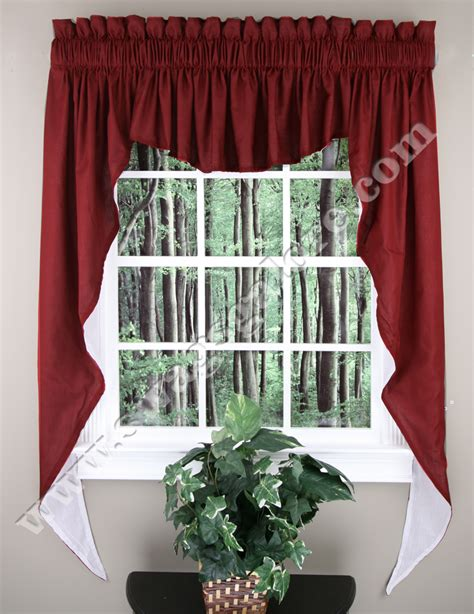 Burgundy Kitchen Valances Emery 63 Quot Lined Swag Set Burgundy Renaissance Home