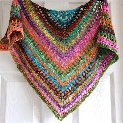 pattern triangle shawl triangular crochet shawl in gypsy style made to order