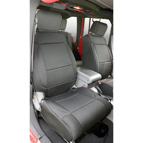jeep wrangler jk neoprene seat covers rugged ridge 13214 01 neoprene front seat covers black