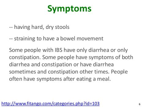 Urgency To Pass Stools by Irritable Bowel