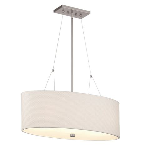 Oval Pendant Light Shop Philips 30 In Satin Nickel Etched Glass Oval Pendant At Lowes