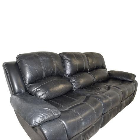 black leather reclining sofa sofas
