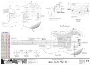 P Bass Template by Luthier Supply Quality Guitar Plans Tools And