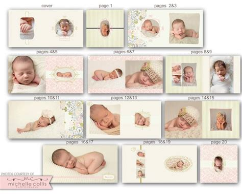 10x10 Baby Album Template Emma 0721 Fa By Rememberwhendesign Baby Photo Album After Effects Project Template Free