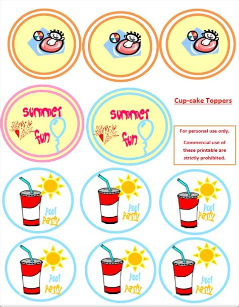 printable summer party decorations summer pool party free printable