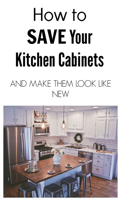 how to make your kitchen cabinets look new how to save your kitchen cabinets and make them look like