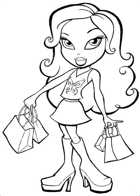 free printable coloring pages cool coloring pages bratz
