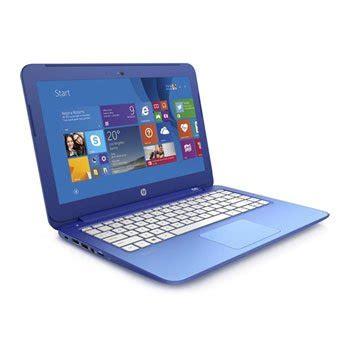 refurbished hp stream notebook 13 inch laptop blue