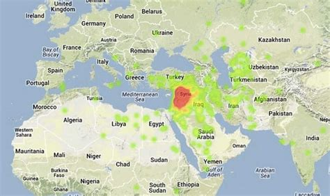map of syria and surrounding countries here s where syria is located on a map in you didn t