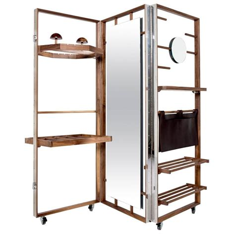 Expandable Room Divider Expandable Cloth Valet Room Divider In Walnut By Naihan Li At 1stdibs