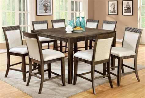 9 piece counter height dining room sets 9 piece forbes ii counter height dining set in gray finish
