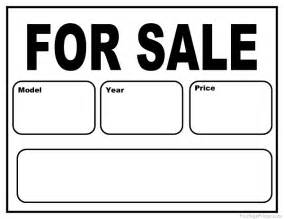 for sale by owner sign template printable car for sale sign
