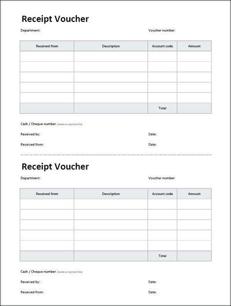 Payment Receipt Voucher Template Excel by Payment Receipt Voucher Viqoo Club