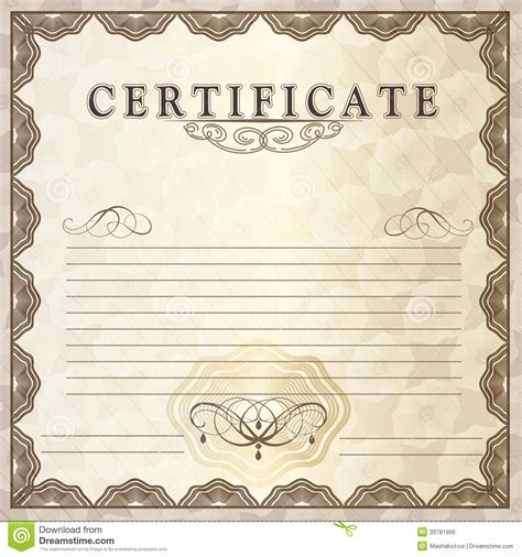 reiki certificate template vector image collections