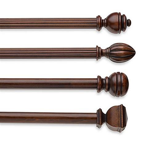 dark wood curtain rods cambria 174 classic wood decorative window hardware in dark