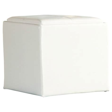 White Leather Cube Ottoman White Leather Cube Storage Ottoman Las Vegas Tradeshow Production