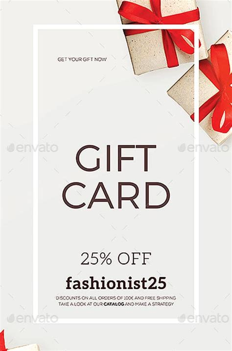 ffflyer special coupon gift card flyer template