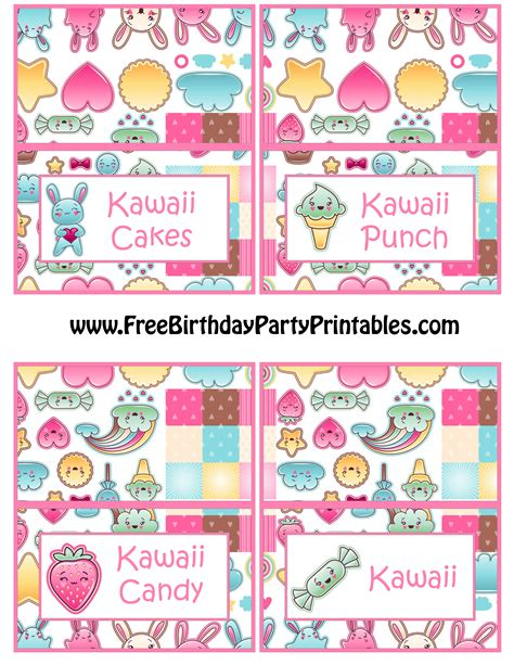 small card template kawaii kawaii bunny birthday food card template by free