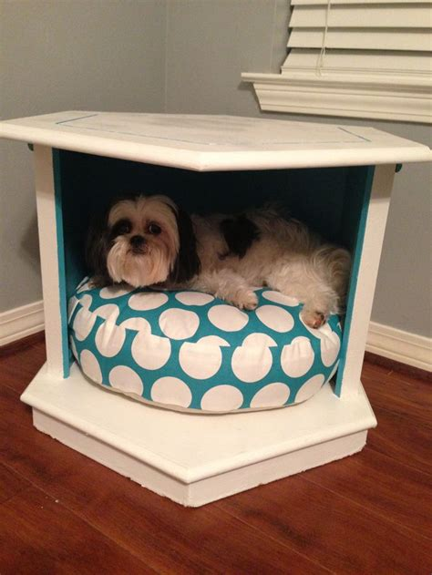 dog bed made from end table pin by lori blum on diy projects pinterest