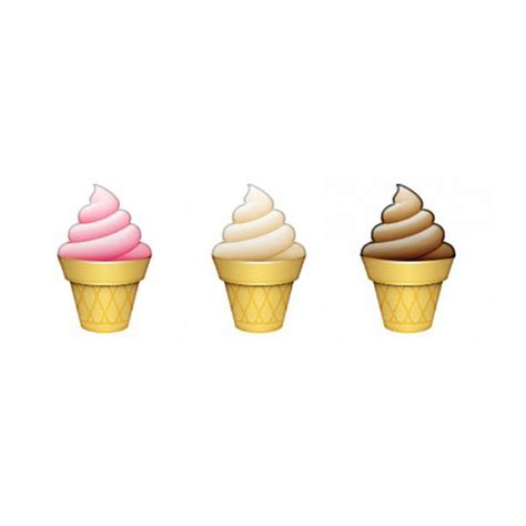 ice cream emoji neapolitan ice cream shared by edits on we heart it