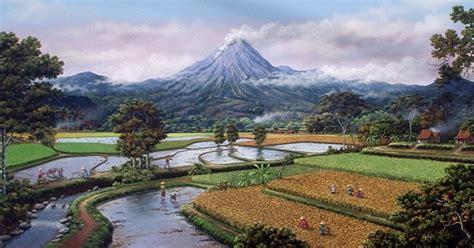 wallpaper pemandangan alam kartun landscapes pemandangan alam