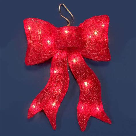 lighted christmas bows