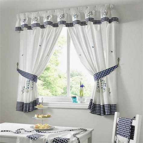 curtain ideas kitchen curtains  blue