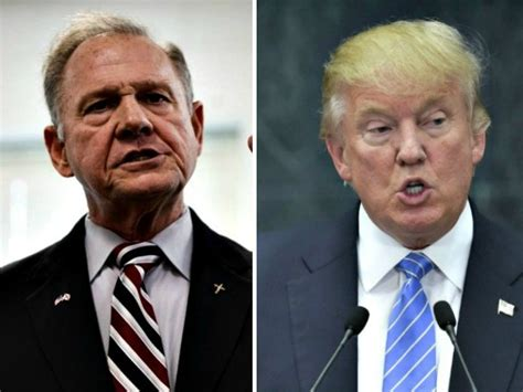 donald trump on roy moore donald trump i ll be caigning like hell for roy