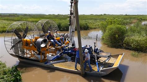 airboat motors turbine powered airboats for sensitive wetland work mtt
