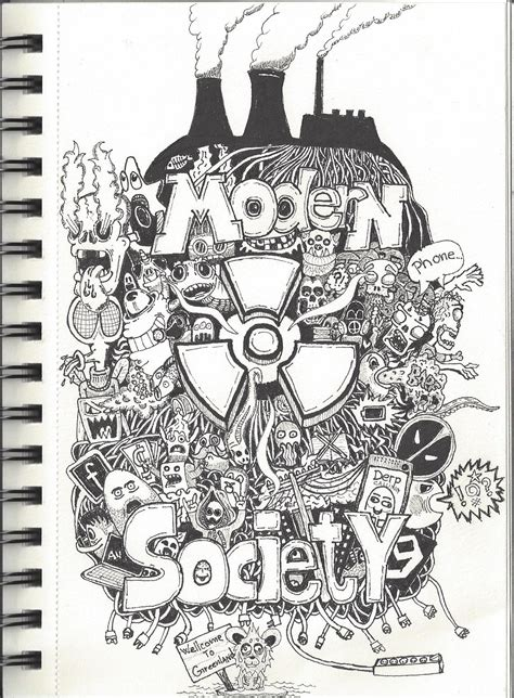 Society Doodle by Doodle Modern Society By Universal Mindspark On