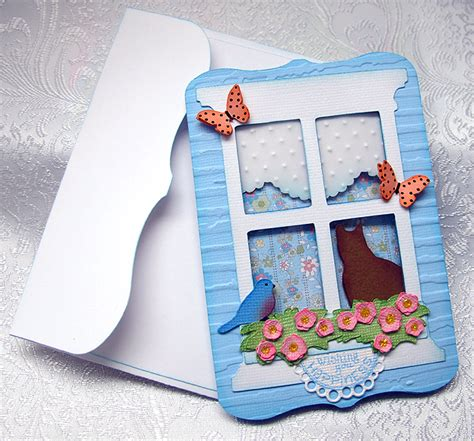how to make cards with cricut window card using cricut creative cards