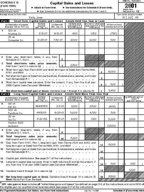 printable schedule d tax form 2014 worksheet irs schedule d tax worksheet hunterhq free