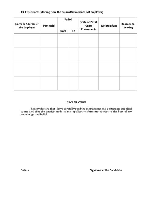 biodata format annexure 1 biodata form in word and pdf formats page 2 of 2