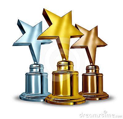imagenes de trofeos vulgares trofeos de la concesi 243 n de la estrella fotos de archivo