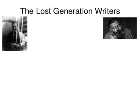 themes in lost generation literature political development and social change