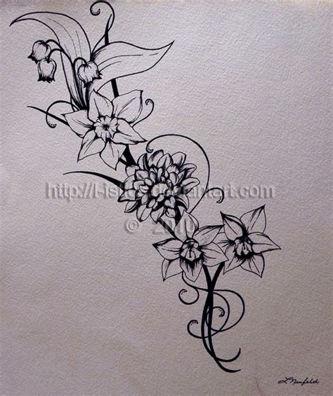february birth flower tattoo november birth flower december narcissus flower