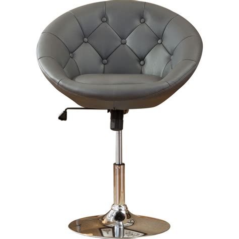 chrome swivel bar stools with back modern high chair round swivel hydraulic grey leather