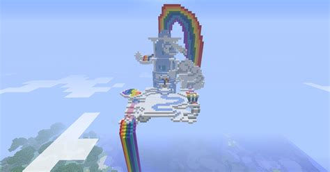 rainbow dash s house rainbow dash s cloud house in minecraft by bronzewolf78 on deviantart