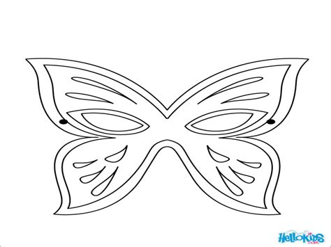 butterfly mask template printable butterfly mask coloring pages sketch coloring page
