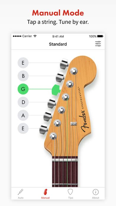 guitar tuna apk fender tune guitar tuner for acoustic and bass app android apk
