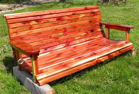 red cedar porch swing eastern red cedar porch swing kit includes lumber ebay