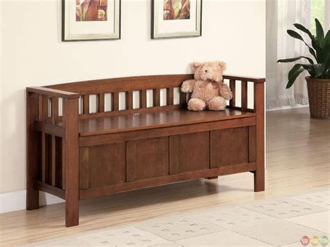 storage bench with seating walnut flip top spacious seating and storage bench