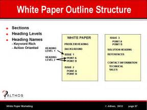 white paper outline template white paper marketing white paper outline