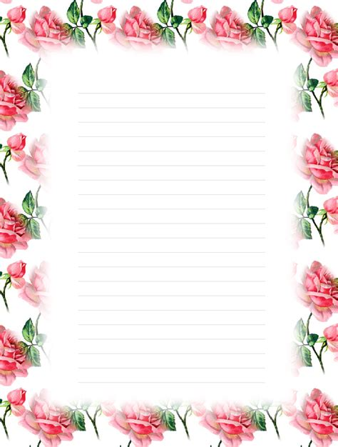 printable floral stationary free printable floral lined stationery money savers at