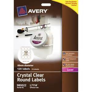 printable labels officeworks avery crystal clear round product labels l7114 pk120 60