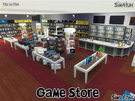 Mod Game Store | ts2 to ts4 game store by sim4fun at sims fans 187 sims 4 updates