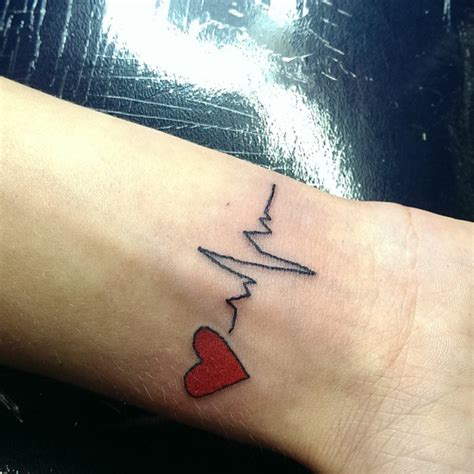 heartbeat pulse tattoo meaning heart beat tattoo bing images